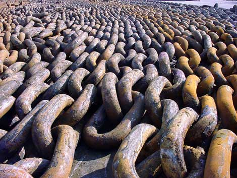 Supplier Of Used Marine Anchor And Anchor Chain In Alang